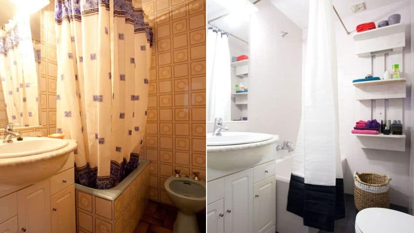 baño en un piso de alquiler
