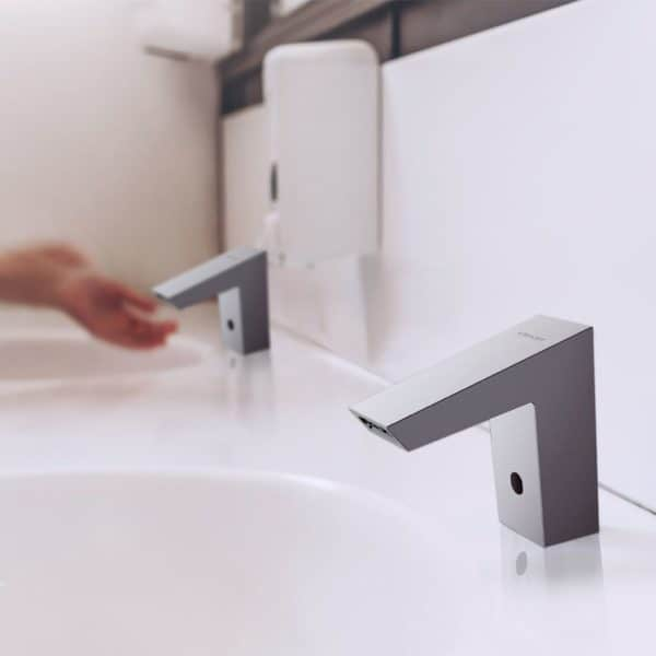 Grifo de lavabo electrónico 90mm Platinum - Grifería Clever