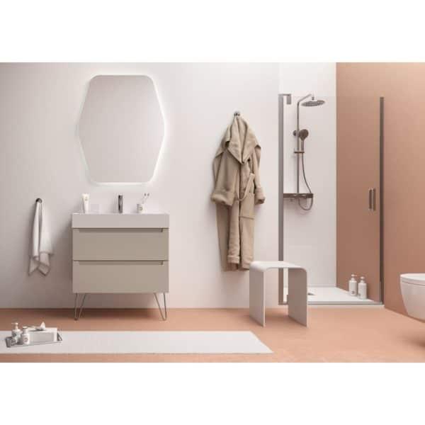 Mueble suspendido con patas decorativas Monterrey con lavabo porcelana - Live matt - Salgar