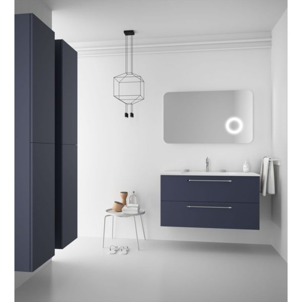 Mueble fussion chrome 2 cajones personalizable con lavabo integral - Salgar