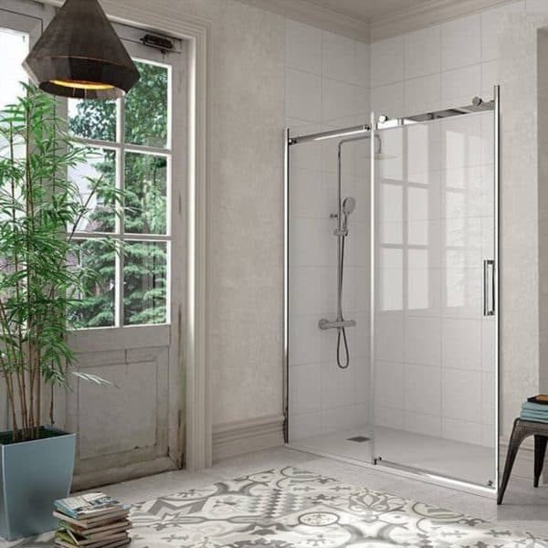 Frente de ducha fijo + puerta corredera - Liberty - Kassandra