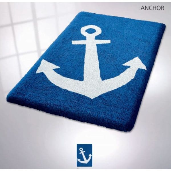 Alfombra textil - Anchor , Royal blue - Kleine Wolke