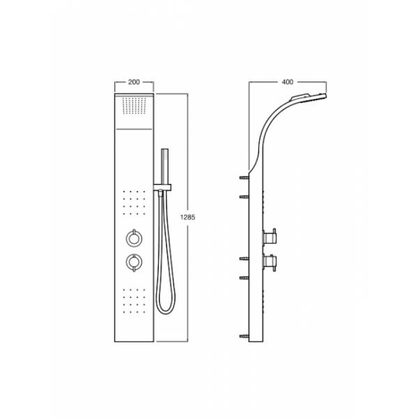 Columna de hidromasaje termostática - Essential - Roca