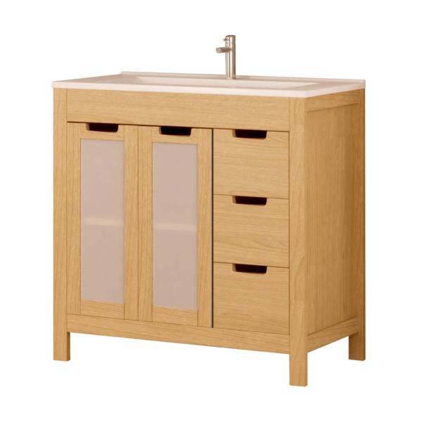 Conjunto mueble + lavabo + espejo 80 cm - Panamá - Bathforte
