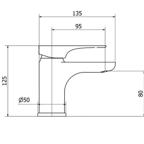 Grifo de lavabo sistema Eco-green - Bass - Martelli