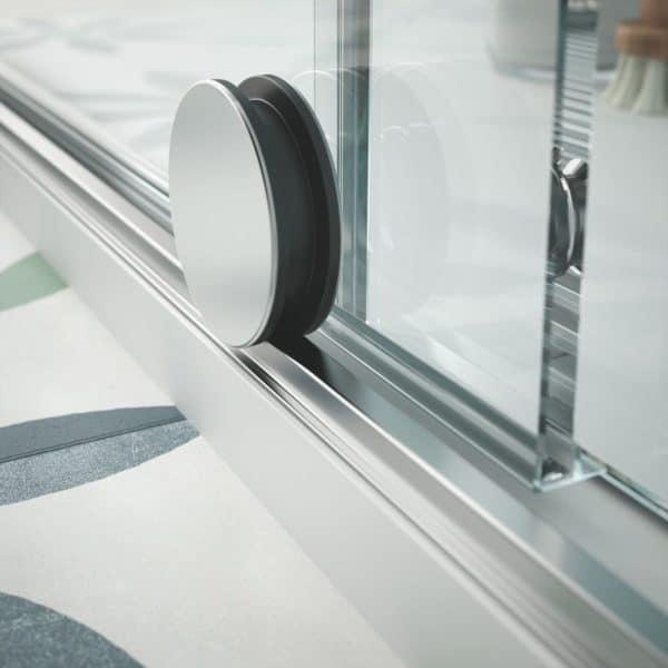 Mampara de ducha frontal de una puerta y un fijo - Serie Reikiavik - Salgar