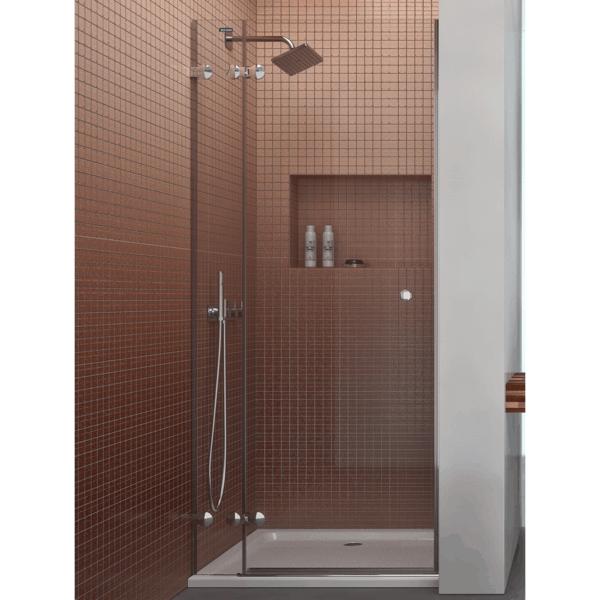 Mampara frontal de ducha 1 fijo + 1 puerta abatible - Collection Pure Style - Duscholux