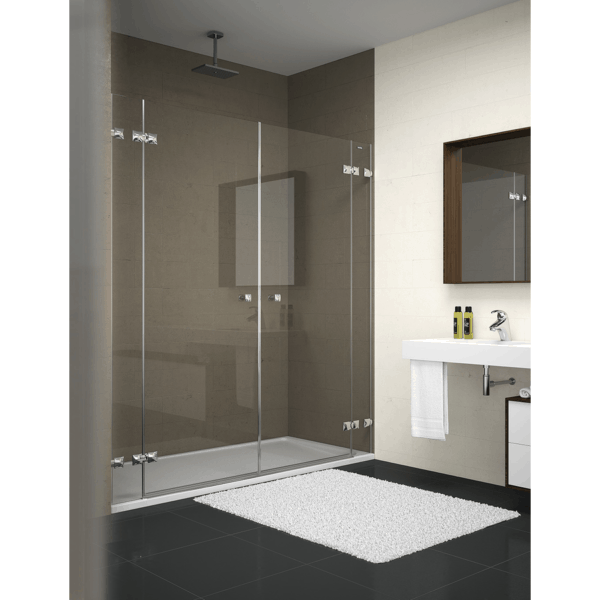 Mampara frontal de ducha 2 fijos + 2 puertas abatibles - Collection Pure Style - Duscholux