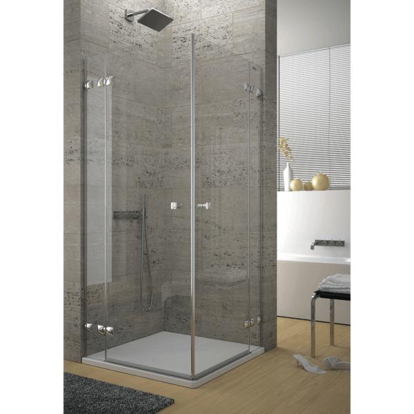 Mampara angular de ducha 2 fijos + 2 puertas abatibles - Collection Pure Style - Duscholux