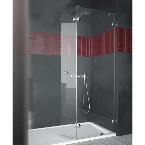 Panel de ducha 1 fijo + 1 puerta abatible - Collection Pure Style - Duscholux