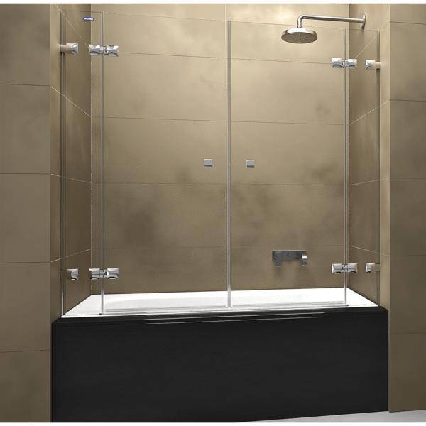 Mampara frontal de bañera 2 fijos + 2 puertas abatibles - Collection Pure Style - Duscholux