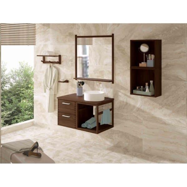 Conjunto mueble + lavabo + espejo 80 cm - Venecia - Bathforte