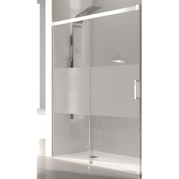 Frente de ducha fijo + puerta corredera - Glasé GS102 - Kassandra