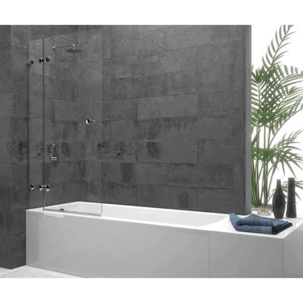 Panel de bañera 1 fijo + 1 puerta abatible - Collection Pure Style - Duscholux