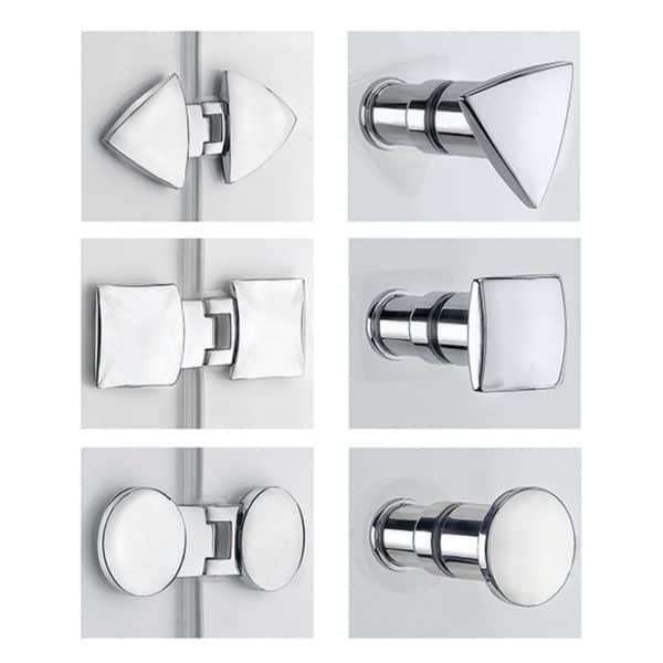 Mampara frontal de ducha de 1 puerta abatible - Collection Pure Style - Duscholux