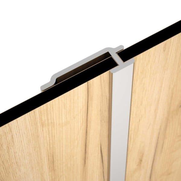 Perfiles para paneles de anuminio anodizado brillo - Atlas - Salgar