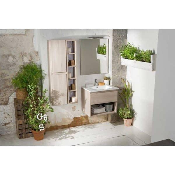 Mueble Life 1 cajón + 1 estante + lavabo 110 cm - Baños 10
