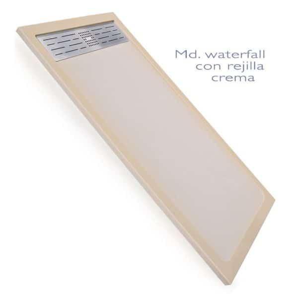 Plato de mármol compacto acabado natural con rejilla - Waterfall - Decorban