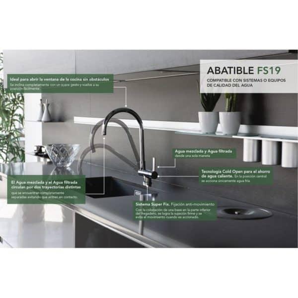 Grifo de cocina abatible - FS19 - Grifería Clever