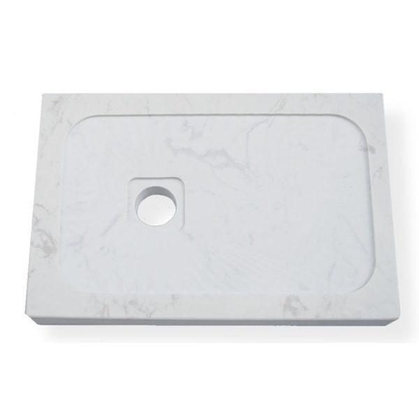 Plato de mármol carrara compacto - Atenas - Decorban