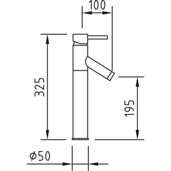 Grifo de lavabo alto - Bermuda - Grifería Clever