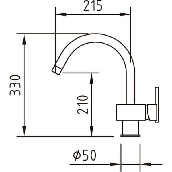 Monomando fregadero caño tubo - Saona - Clever