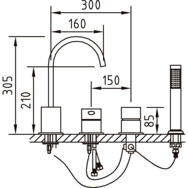 Monomando Baño-Ducha Bateria Ec2 Mikura - 97955 - Clever