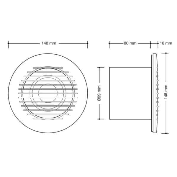 Extractor rejilla redondo - Drena