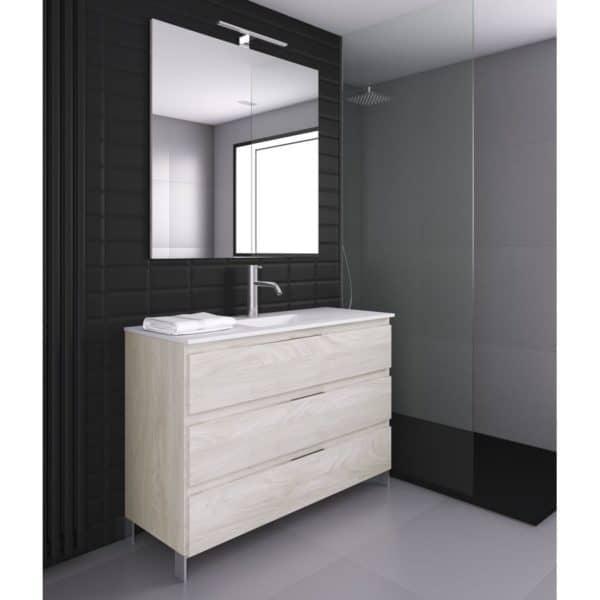 Conjunto mueble 3 cajones con encimera Quadra life SolidCoat Surface - Life - Baños10