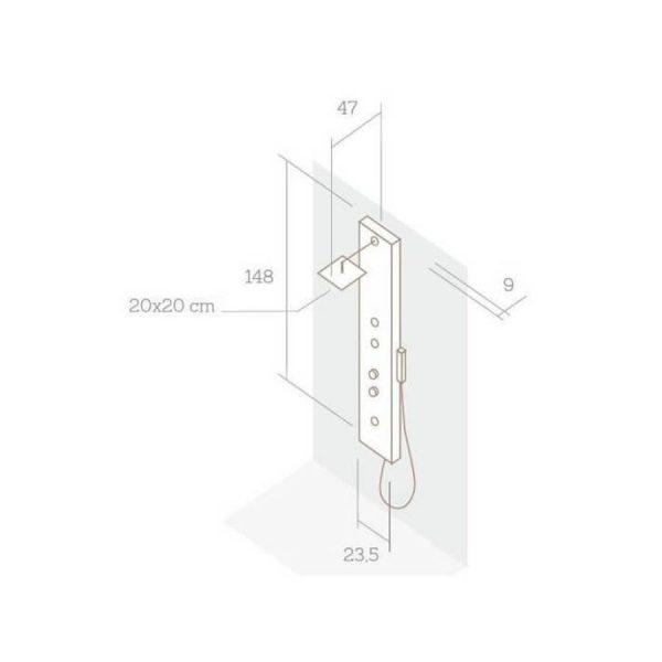 Columna de ducha resina - Natural - Baños10