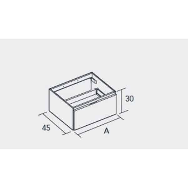 Conjunto encimera SolidCoat Surface con bajo mueble - Life - Baños10