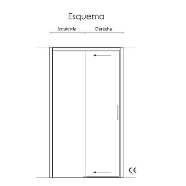 Frente de ducha fijo + puerta corredera - Sena - Anna Bagno