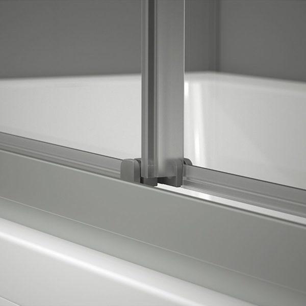 Mampara de ducha frontal 2 puertas correderas - Plus Evolution - Duscholux