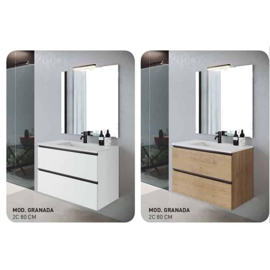 Conjunto mueble de baño 80 - Modelo Granada - Visobath ...