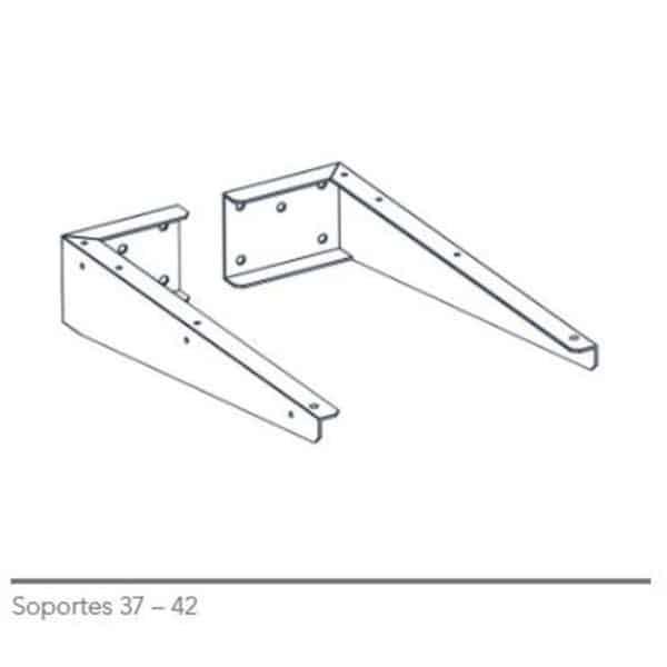 Kit de 2 soportes para encimeras - Baños10