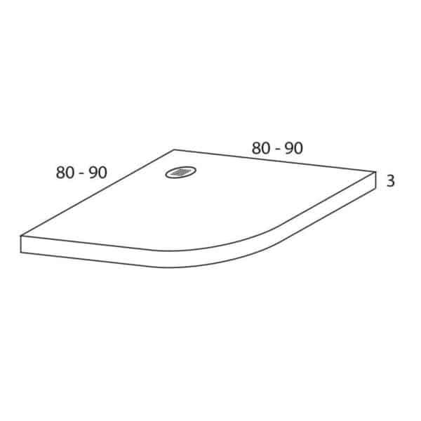 Plato de ducha resina semicircular - Futurbaño