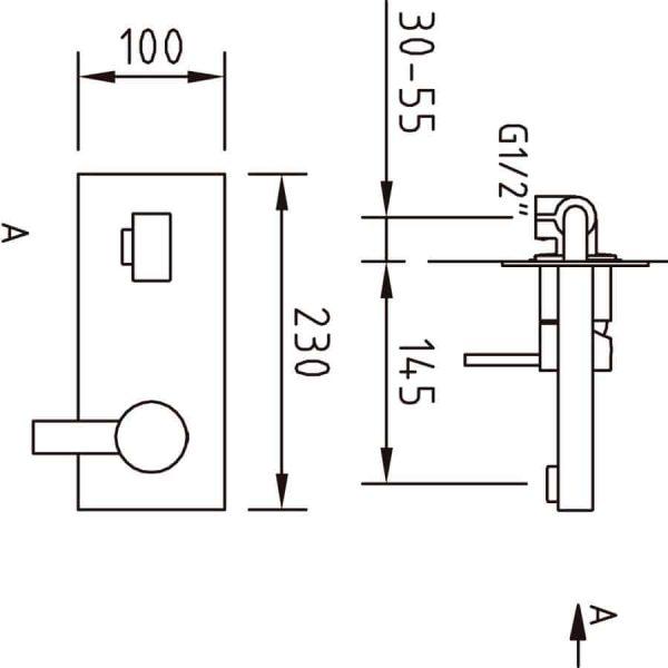 Grifo de lavabo monomando para empotrar Bimini EcoNature - Clever