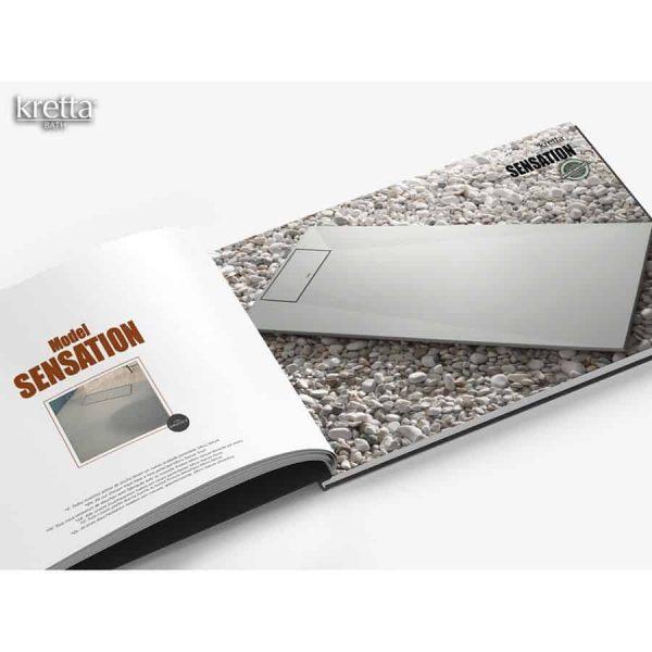 Plato de ducha Solid Surface - Sensation - Kretta