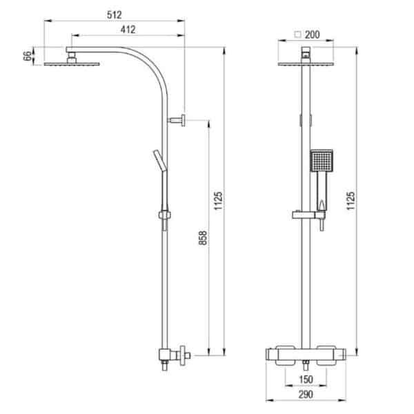 Columna de ducha termostática - Nitro - Galindo