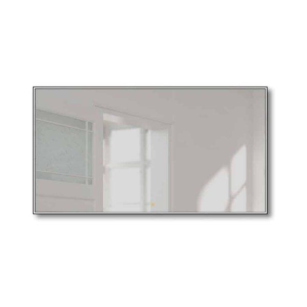 Espejo con luz Led frontal con marco negro o plata - Linea - Manillons Torrent