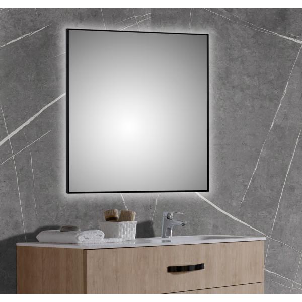 Espejo con marco de aluminio lacado negro mate - Chessnut - Bathdecor