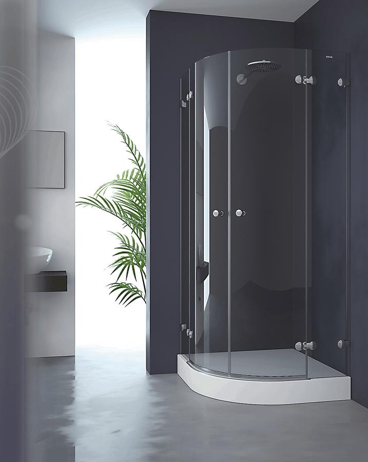 Mampara semicircular de ducha 2 fijos + 2 puertas abatibles – Collection Pure Style – Duscholux