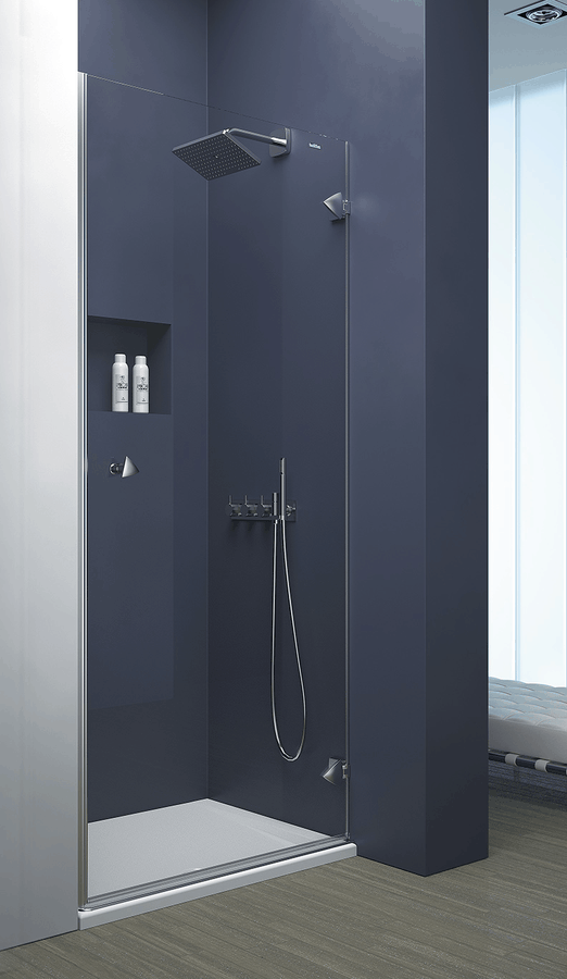Mampara frontal de ducha de 1 puerta abatible – Collection Pure Style – Duscholux