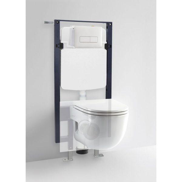 Conjunto de cisterna empotrada con bastidor y placa frontal/superior - Drena