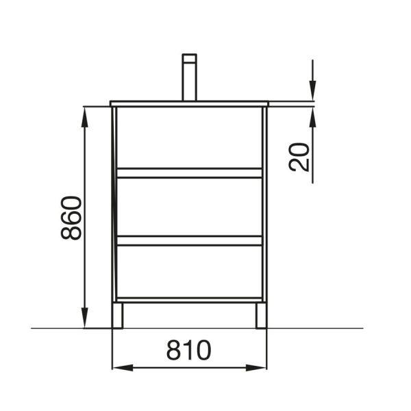Mueble y lavabo - Arenys - Salgar
