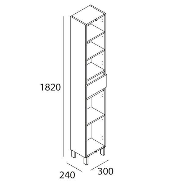Pilar 2 puertas 1 cajón - Infinity - Salgar