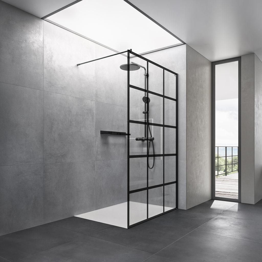 Panel Duscholux Basic Deco Black