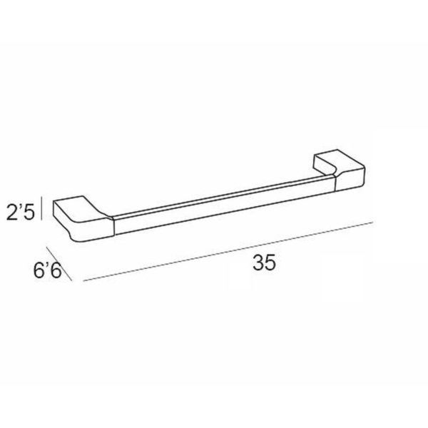 Toallero con forma de barra de 35cm - Yass - Manillons Torrent