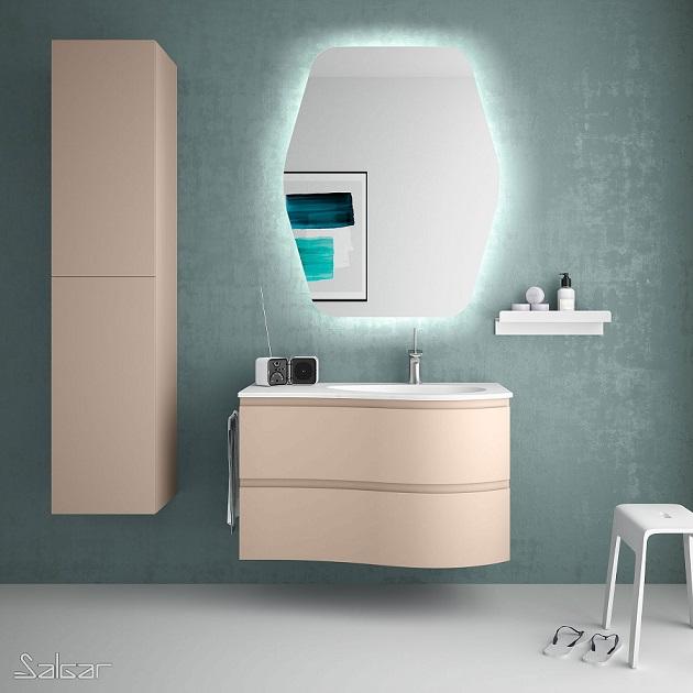 Mueble MAM de Salgar en acabado Macchiato con lavabo integrado