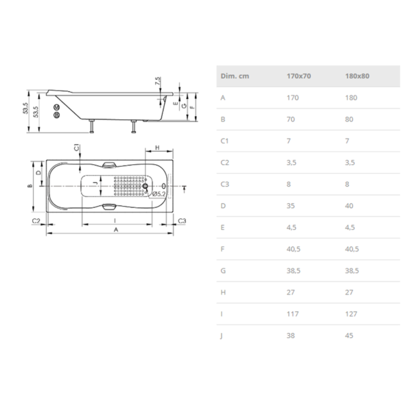 Bañera Confort - Project - Sanycces